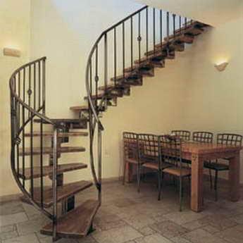 קו נבון - מדרגות עץ ומתכת 2