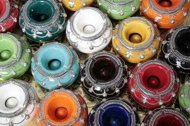 כחול זהב - חפצי נוי מרוקאים 16