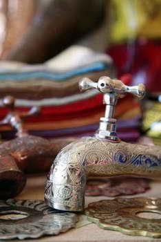 כחול זהב - חפצי נוי מרוקאים 2