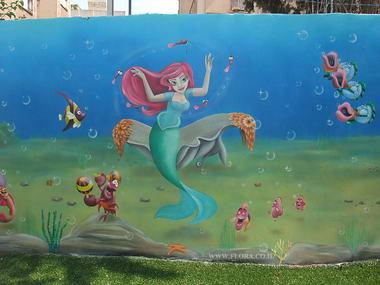 פלורה - ציורי קיר 13