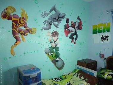 פלורה - ציורי קיר 2